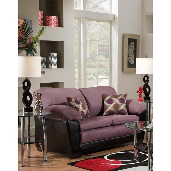 Peachy Sofa Trendz Anita Eggplant Purple Loveseat Bralicious Painted Fabric Chair Ideas Braliciousco