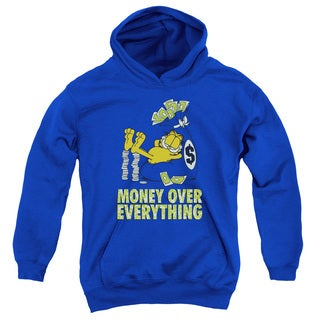 Garfield/Money Is Everyfthhing Youth Pull-Over Hoodie in Royal