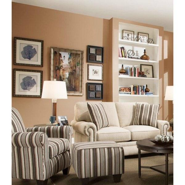 Sofa Trendz Cory Cotton/Polyester Beige Loveseat