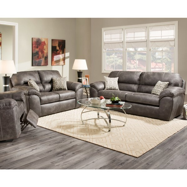 Shop Sofa Trendz Albert Grey Microfiber 2-piece Sofa And
