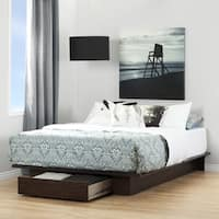 South Shore Holland Havana Full/Queen Platform Bed with Drawer