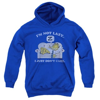 Garfield/Not Lazy Youth Royal Pull-over Hoodie