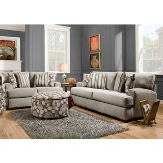 Sofa Trendz Christy Taupe Cotton/Polyester Sofa and Loveseat