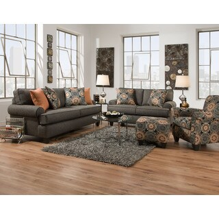 Sofa Trendz Ryley Brown Fabric/Polyester Blend Sofa and Loveseat (Set of 2)