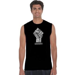 Men's Cotton Sleeveless Occupy Wall Street T-shirt
