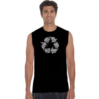 LA Pop Art Men's 86 Recyclable Products Sleeveless T-shirt