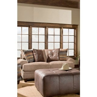 Sofa Trendz 'Allison' Taupe Cotton-blended Loveseat