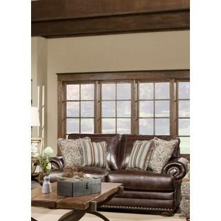 Sofa Trendz McKayla Brown Leather-Air Loveseat