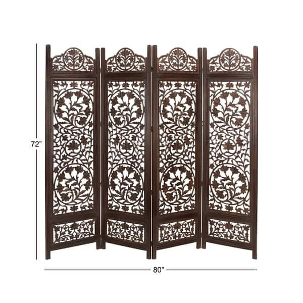 Panel Dark Brown Wood Room Divider