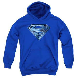 Superman/On Ice Shield Royal Youth Pull-over Hoodie