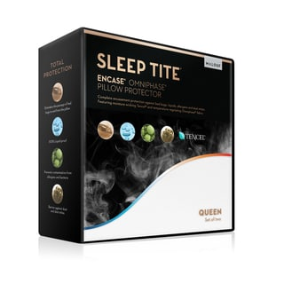 SLEEP TITE Encase Omniphase Pillow Protector (Set of 2) (Option: Queen)