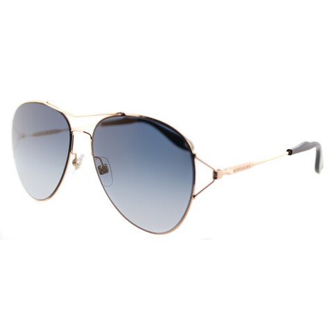 Givenchy GV 7005 DDB Gold Copper Metal Aviator Blue Gradient Lens Sunglasses