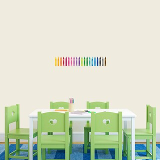 Crayons Full Color Printed Wall Decal