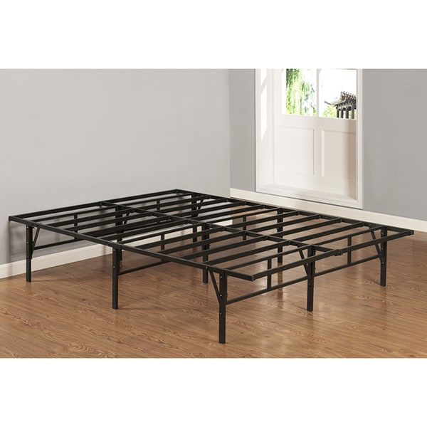 Full Size Black Metal Platform Bed Frame Free Shipping