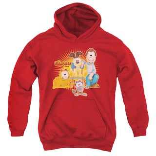 Garfield/Say Cheese Red Cotton Polyester Youth Pull-over Hoodie