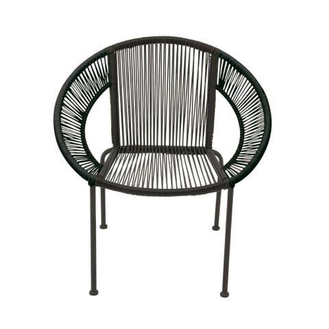 Splendid Metal Plastic Rattan Chair