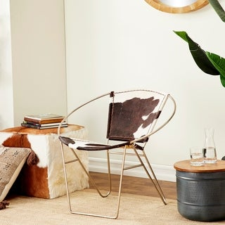 Fabulous Metal Real Leather Hair Chair