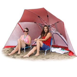 EasyGo BrellaTM The Ultimate 2 in 1 Umbrella Shelter Works as a Sport or Beach Canopy Tent Opens in 5 Seconds