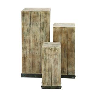 Studio 350 Wood Pedestal Set of 3, 39 inches, 30 inches, 22 inches high