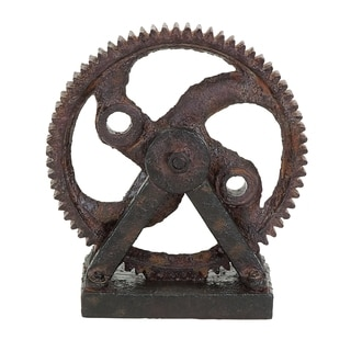 Industrial Style Rusted Gear Decor
