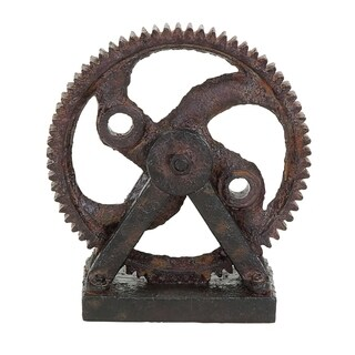 Carbon Loft Ferris Industrial-style Rusted Gear Decor