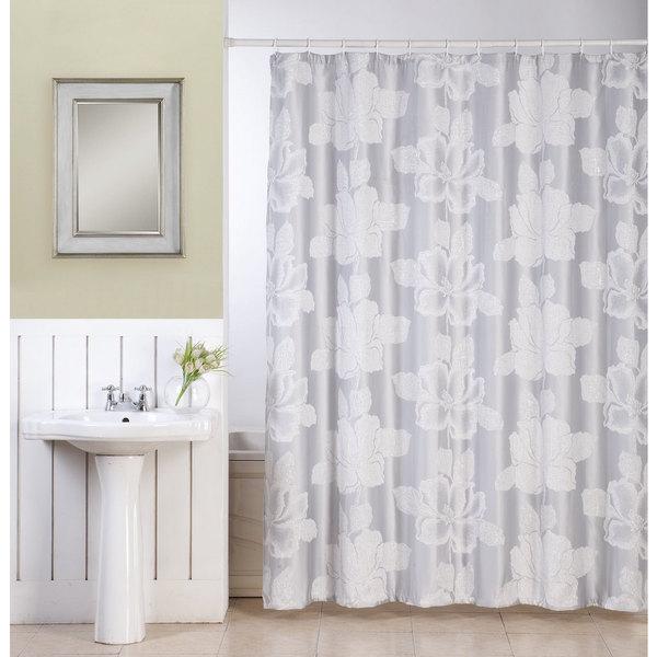Ellen Tracy Flower with Lurex Fabric Sower Curtain