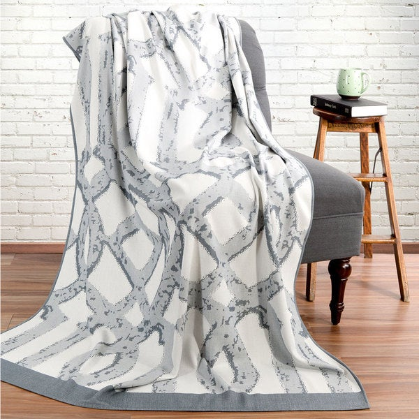 Bedford Cottage Gateway Collection Grey/Multicolor Rayon From Bamboo Reversible Throw