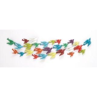 The Colorful Metal Bird Wall Decor