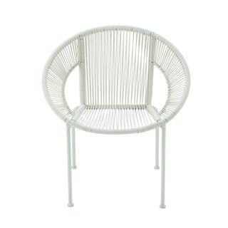 Durable Metal Plastic Rattan Chair