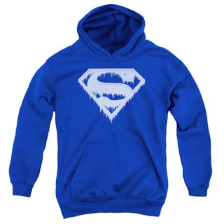 Superman/Ice and Snow Shield Youth Pull-Over Hoodie in Royal