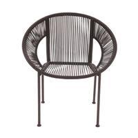 Comfortable Metal Plastic Rattan Chair