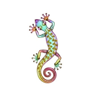 Funky Styled Mocker Lizard Wall Decor
