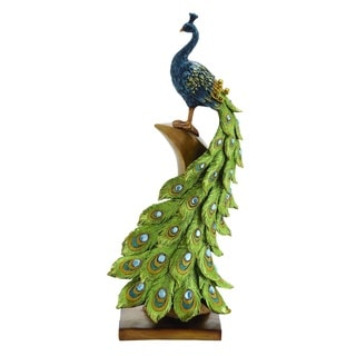 Multicolored Irish Styled Peacock Decor