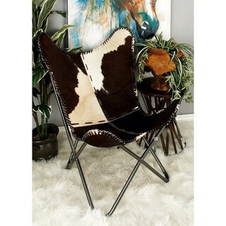 Fancy Metal Real Leather Hair Chair