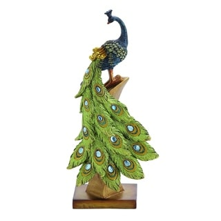 Multihued Elegant Peacock Table Decor
