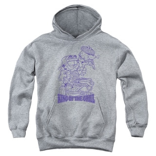 Garfield/King Of The Grill Youth Pull-Over Hoodie in Heather
