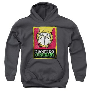 Garfield Youth's Don't Do Ordinary Charcoal Pull-over Hoodie