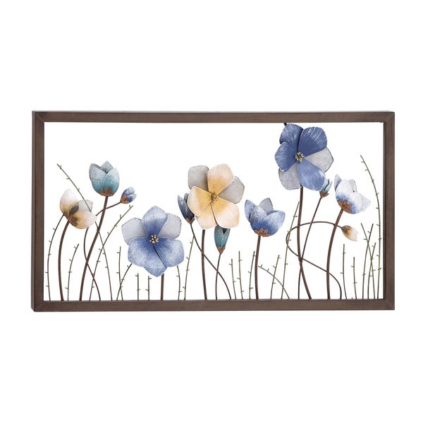 Shop Attractive Styled Metal Flower Wall Decor Free Shipping Today