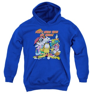 Garfield Youth Don't Mess With My Mess Royal Cotton/Polyester Pullover Hoodie