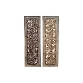 Link to Studio 350 Wood Wall Decor Set of 2, 38 inches high, 12 inches wide Similar Items in Wood Wall Art