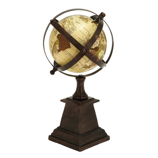 Carbon Loft Ostriker Aluminum Caged Globe Nautical Maritime Decor