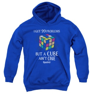 Rubik's Cube/99 Problems Youth's Royal Blue Cotton/Polyester Pullover Hoodie