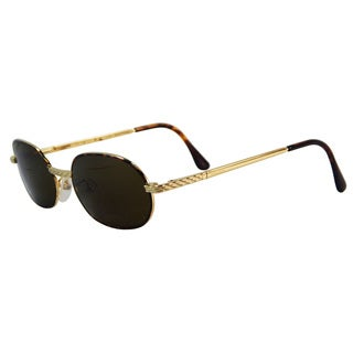 Vecceli Italy Unisex OS-139-GTORT Goldtone Plastic and Stainless Steel Sunglasses