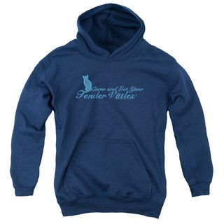 Tender Vittles 'Come and Get Em' Navy Cotton-blended Youth Pullover Hoodie