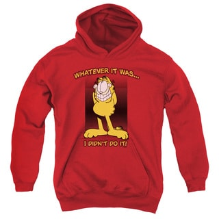 Garfield/I Didn't Do It Youth Pull-Over Hoodie in Red