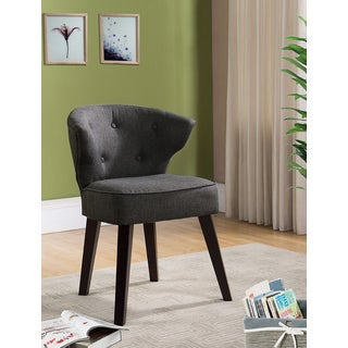 K and B Furniture Co AC6297 Grey Fabric/Wood Accent Chair