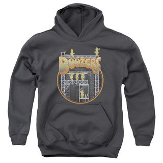 Fraggle Rock/Doozers Construction Youth Pull-Over Hoodie in Charcoal