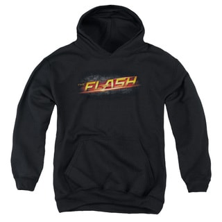 The Flash Logo Youth Black Polyester/Cotton Pullover Hoodie