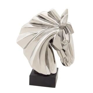 Exquisite And Classy Ceramic Horse Head Silver