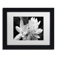 Kurt Shaffer 'Tuber Rose in Black and White' Matted Framed Art